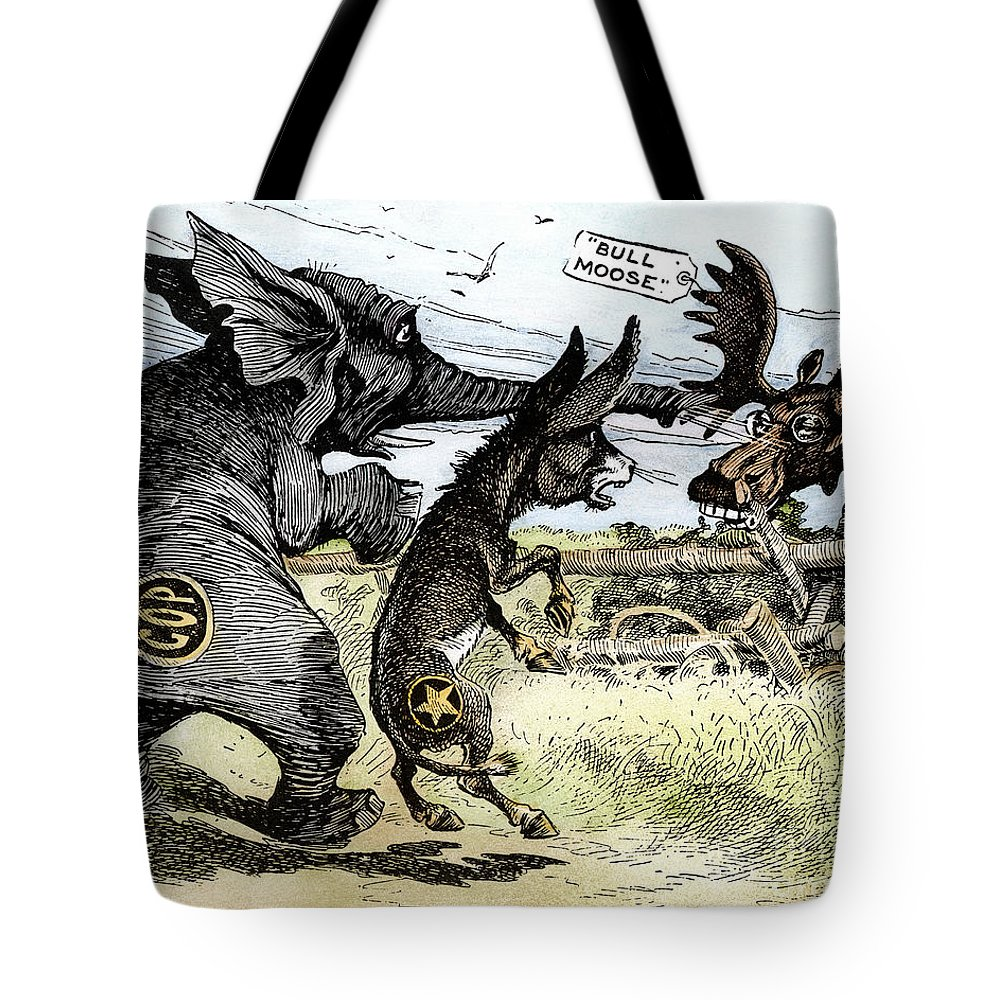 1912 Tote Bag featuring the photograph Bull Moose Campaign, 1912 by Granger