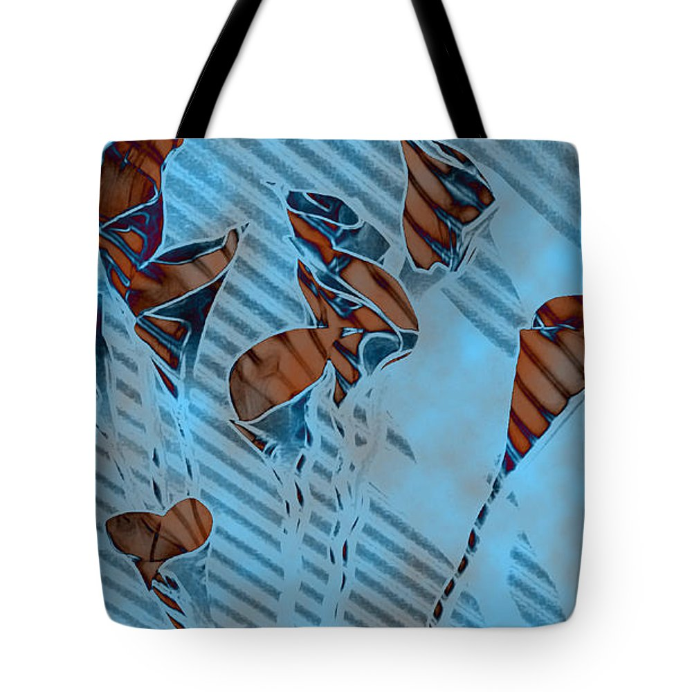 Flowers Tote Bag featuring the painting Calla Lilies by Gary at TopPhotosI