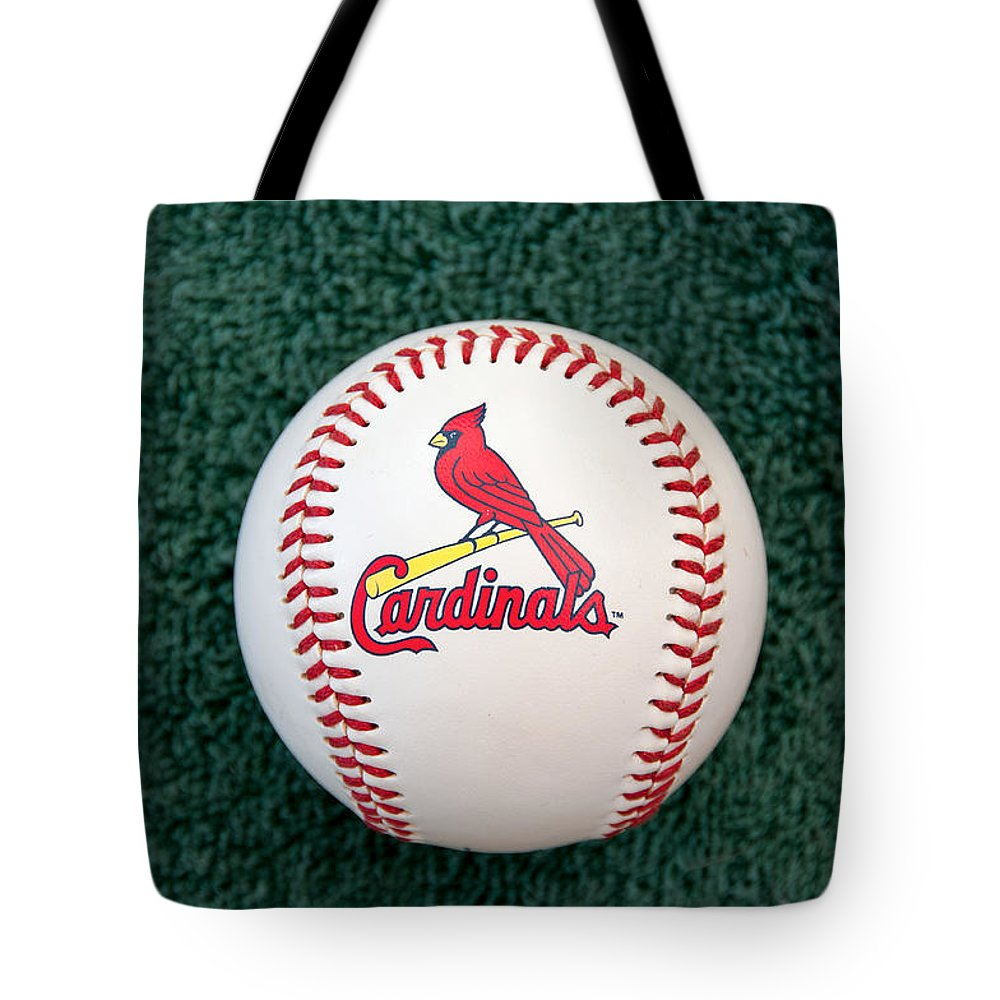 Baseball Tote Bag featuring the photograph Cardinals by Steve Stuller
