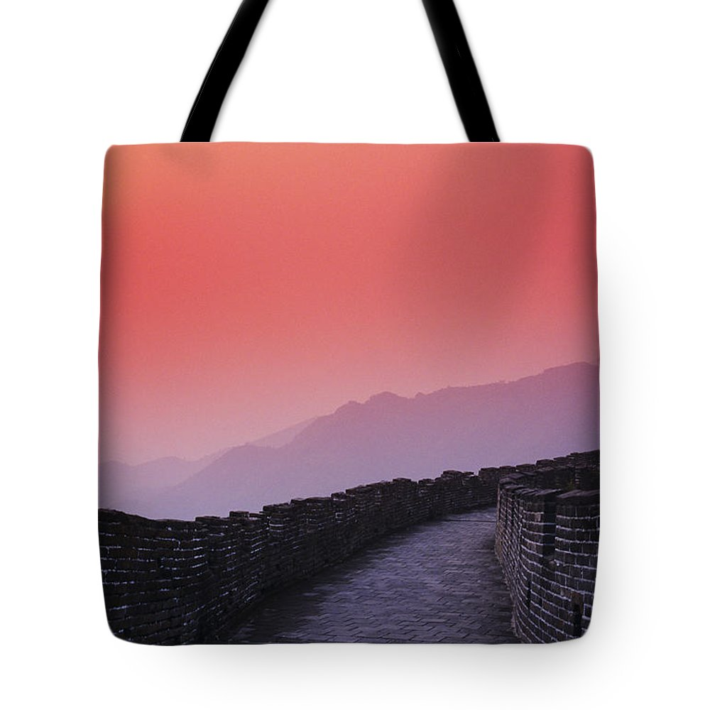 Afar Tote Bag featuring the photograph China, Mu Tian Yu by Gloria & Richard Maschmeyer - Printscapes