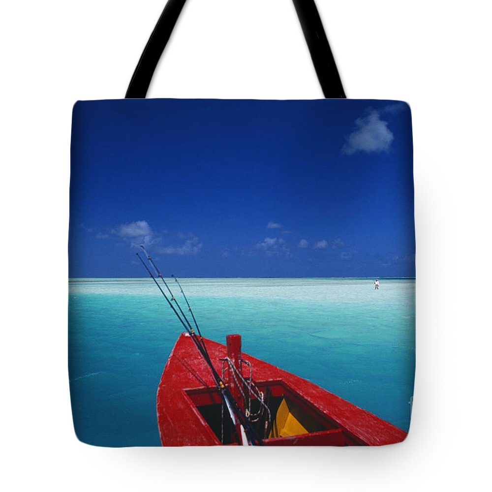 Beach Tote Bag featuring the photograph Christmas Island, Bone Fi by Ron Dahlquist - Printscapes