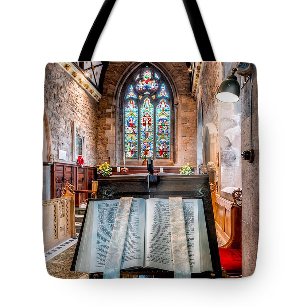 Church Interior Tote Bag featuring the photograph Church Interior by Adrian Evans