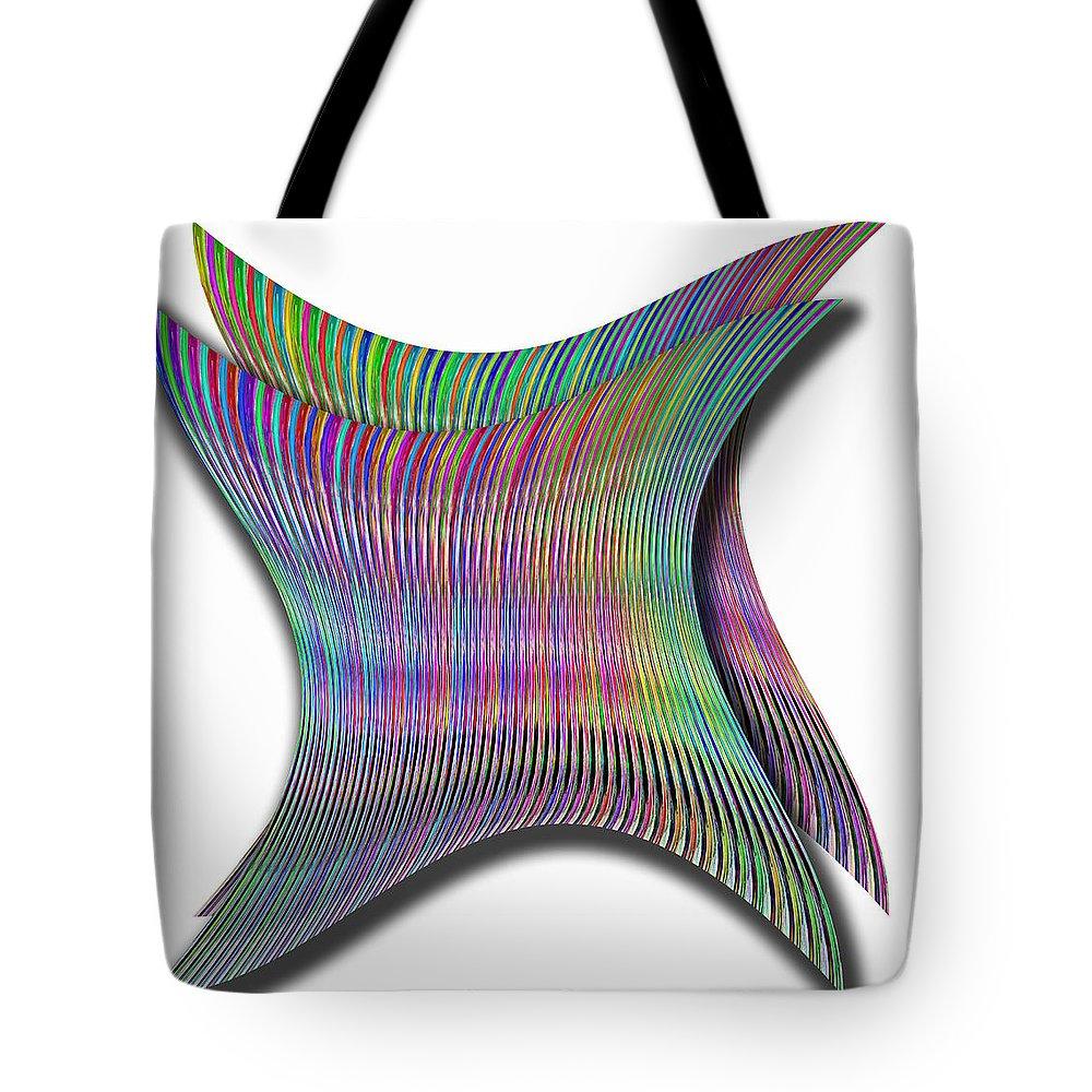 Cinetic Tote Bag featuring the digital art Cinetic Art by Galeria Trompiz