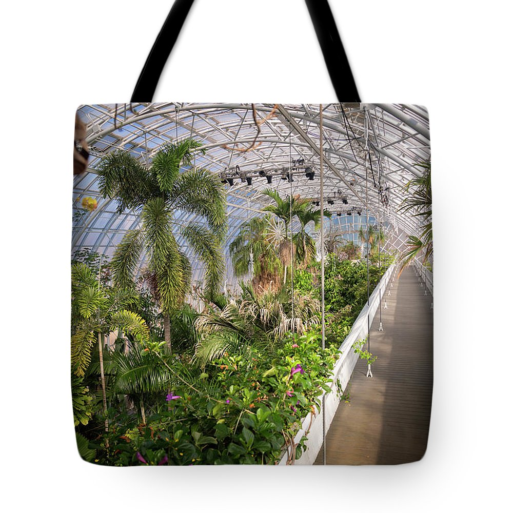 Architecture Tote Bag featuring the photograph Crystal Bridge by Ricky Barnard