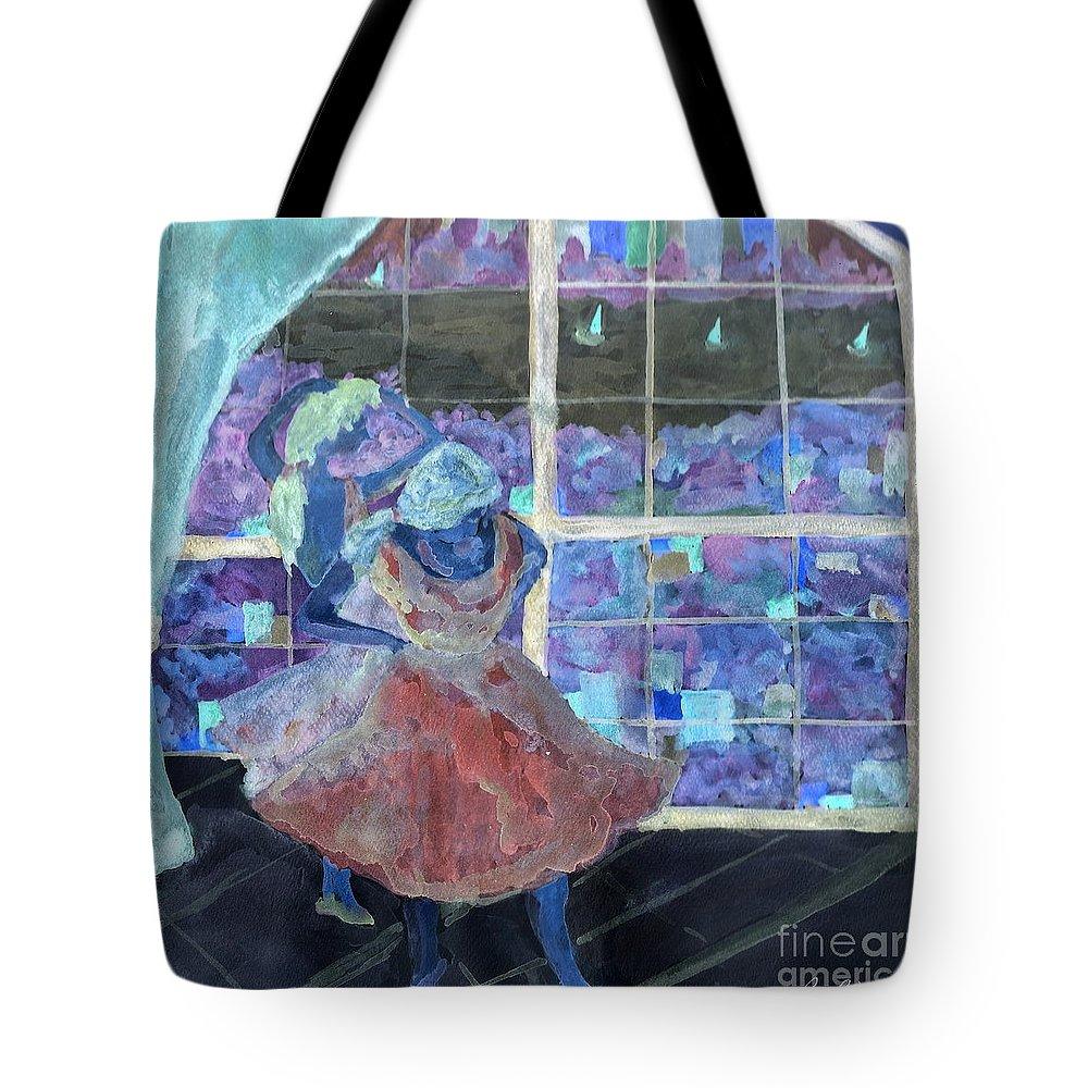 Ballet Dancers Tote Bag featuring the digital art Dansarinas by Reina Resto
