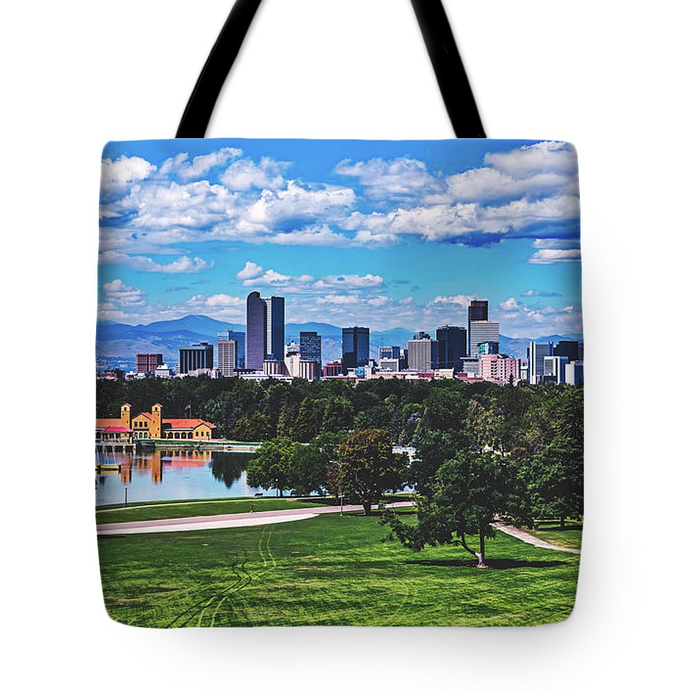 Denver Tote Bag featuring the photograph Denver City Park by Library Of Congress