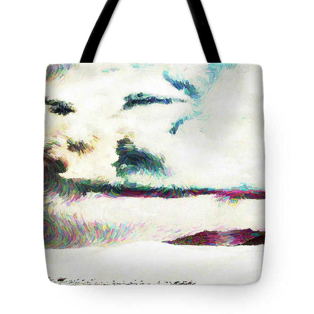 Desert Tote Bag featuring the digital art Desert by Lora Battle