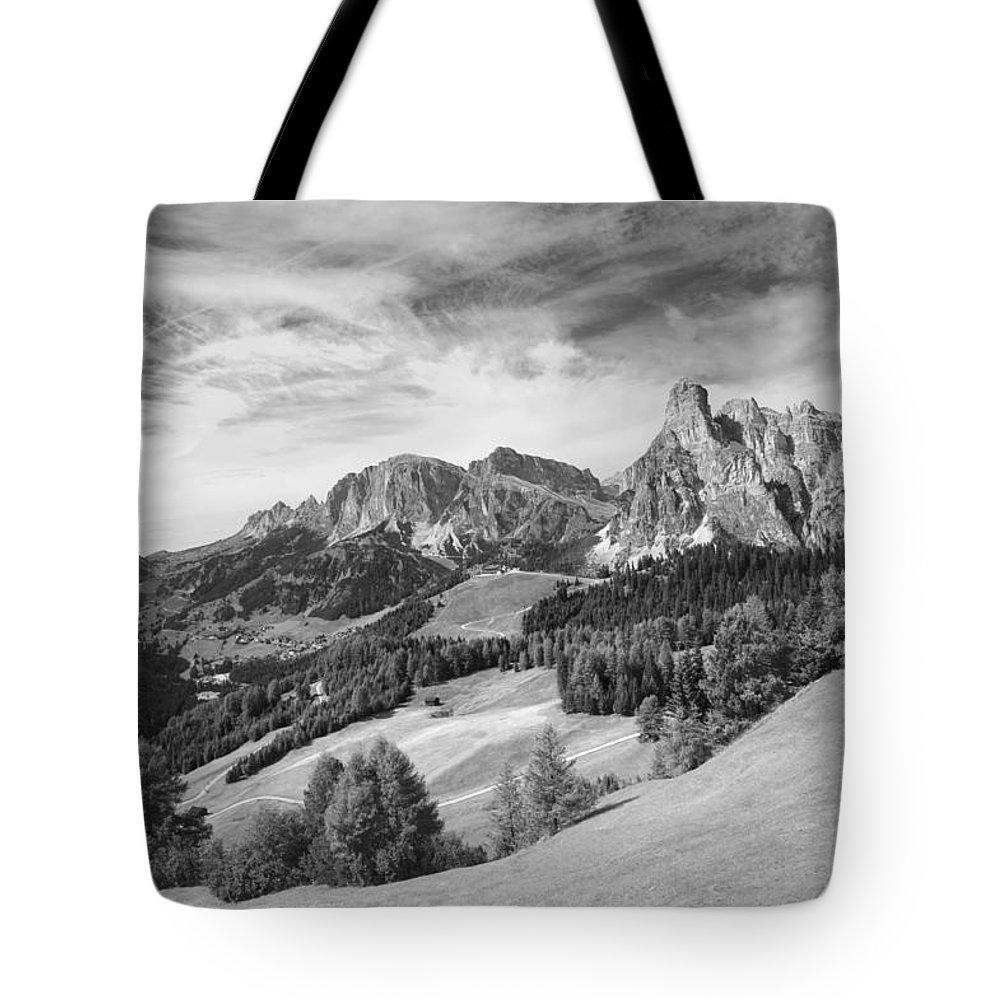 Mountains Tote Bag featuring the photograph Dolomiti, Landscape by Massimo Battaglia