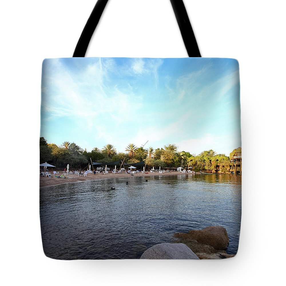 Israel Tote Bag featuring the photograph Dolphin Reef Beach by Gal Eitan