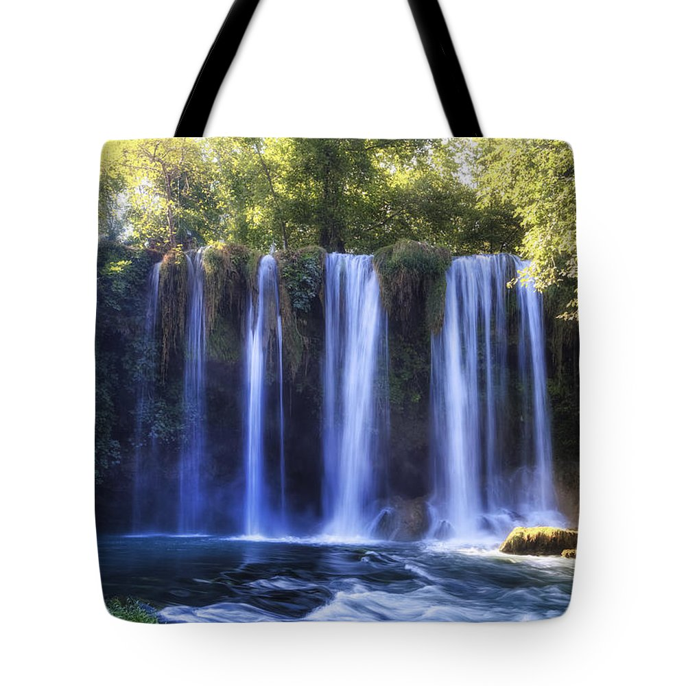 Duden Waterfall Tote Bag featuring the photograph Duden Waterfall - Turkey by Joana Kruse