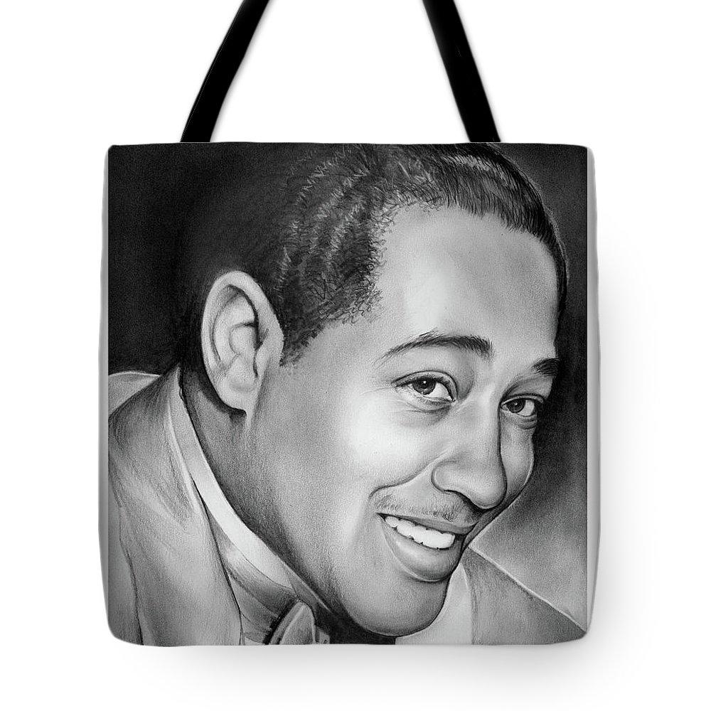 Jazz Tote Bag featuring the drawing Duke Ellington by Greg Joens