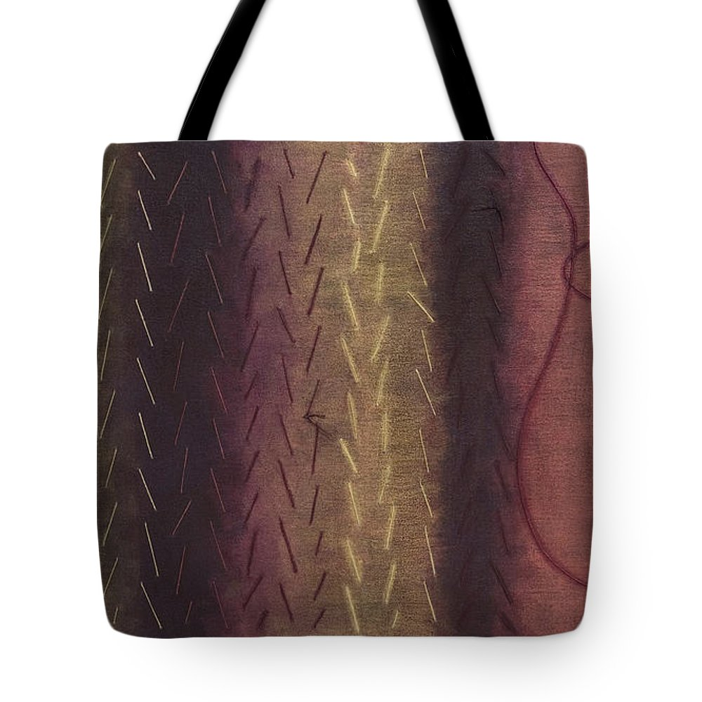 Acrylic Tote Bag featuring the painting Embodiment - Divine Source by Kerryn Madsen- Pietsch