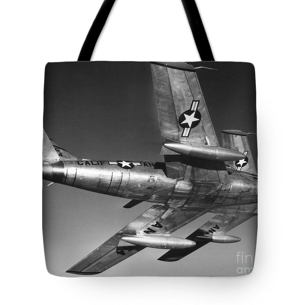 20th Century Tote Bag featuring the photograph F-86 Jet Fighter Plane by Granger