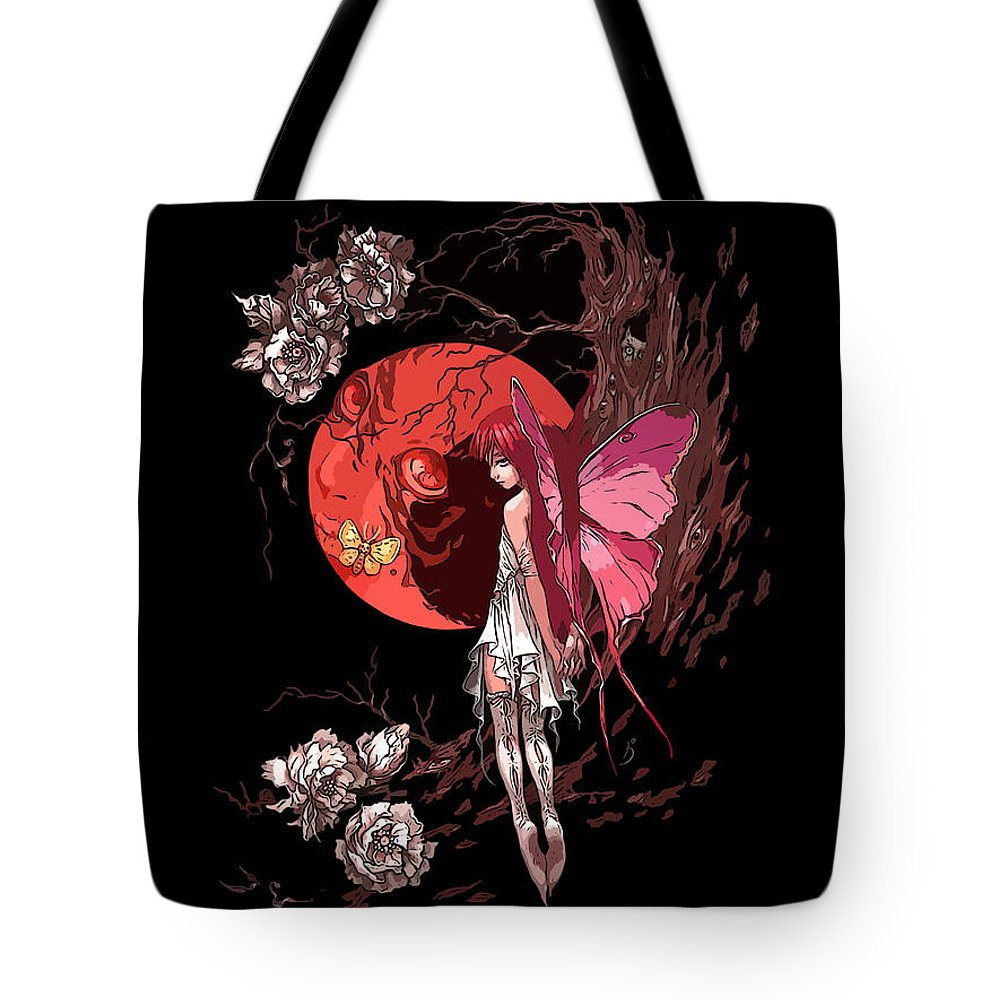 Fairy Tote Bag featuring the digital art Fairy by Lora Battle