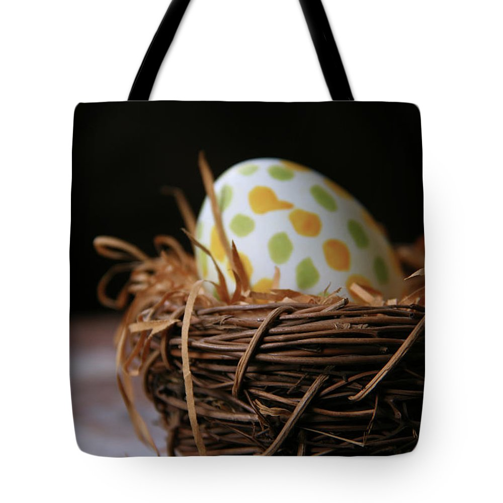 Greetings Tote Bag featuring the photograph Fashionable Egg by Yvonne Wright