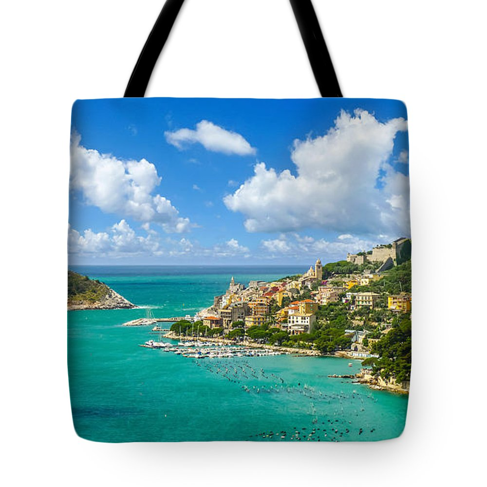 Architecture Tote Bag featuring the photograph Fisherman Town Of Portovenere, Liguria, Italy by JR Photography