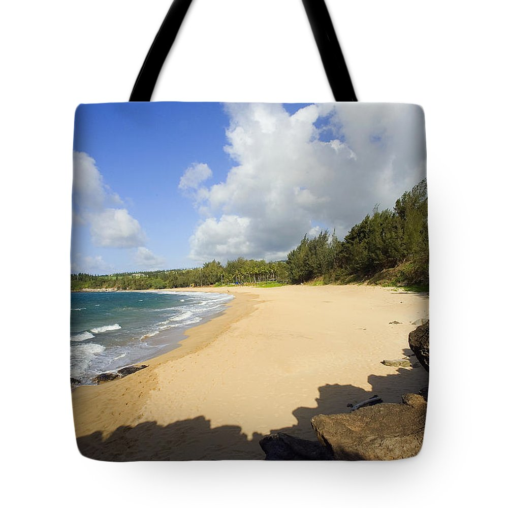 Beach Tote Bag featuring the photograph Fleming Beach by Ron Dahlquist - Printscapes