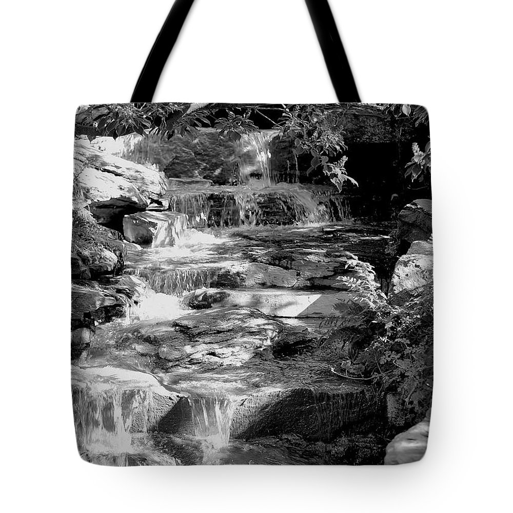 Scenic Tote Bag featuring the photograph Flowing Water by Joyce Baldassarre