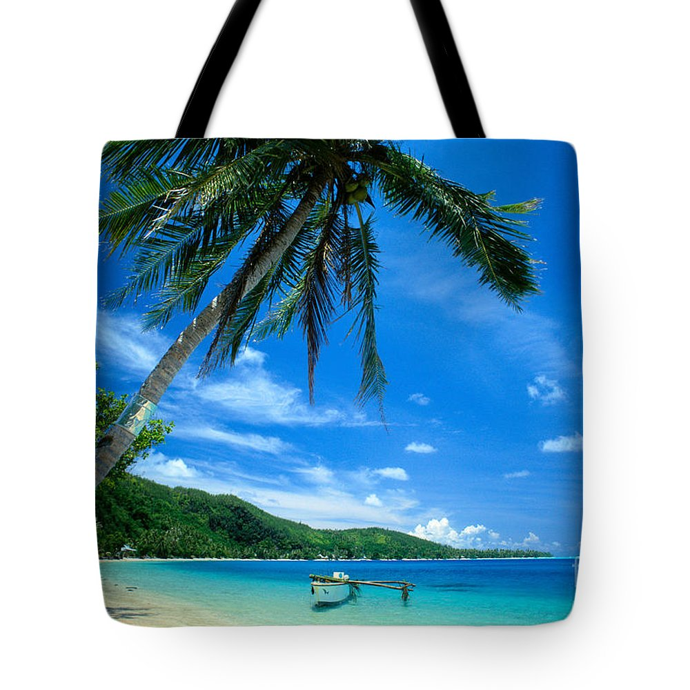 Afternoon Tote Bag featuring the photograph French Polynesia, Huahine by Rita Ariyoshi - Printscapes