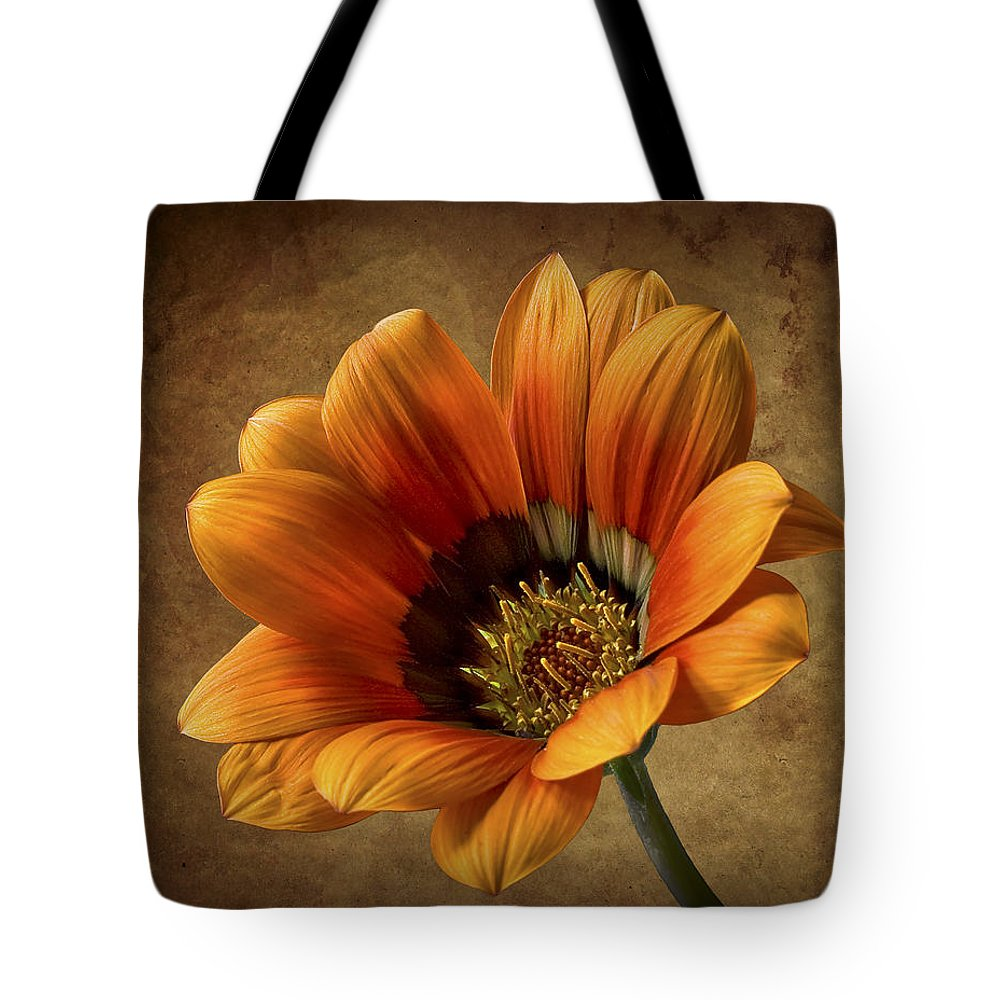 Flower Tote Bag featuring the photograph Gazinia by Endre Balogh
