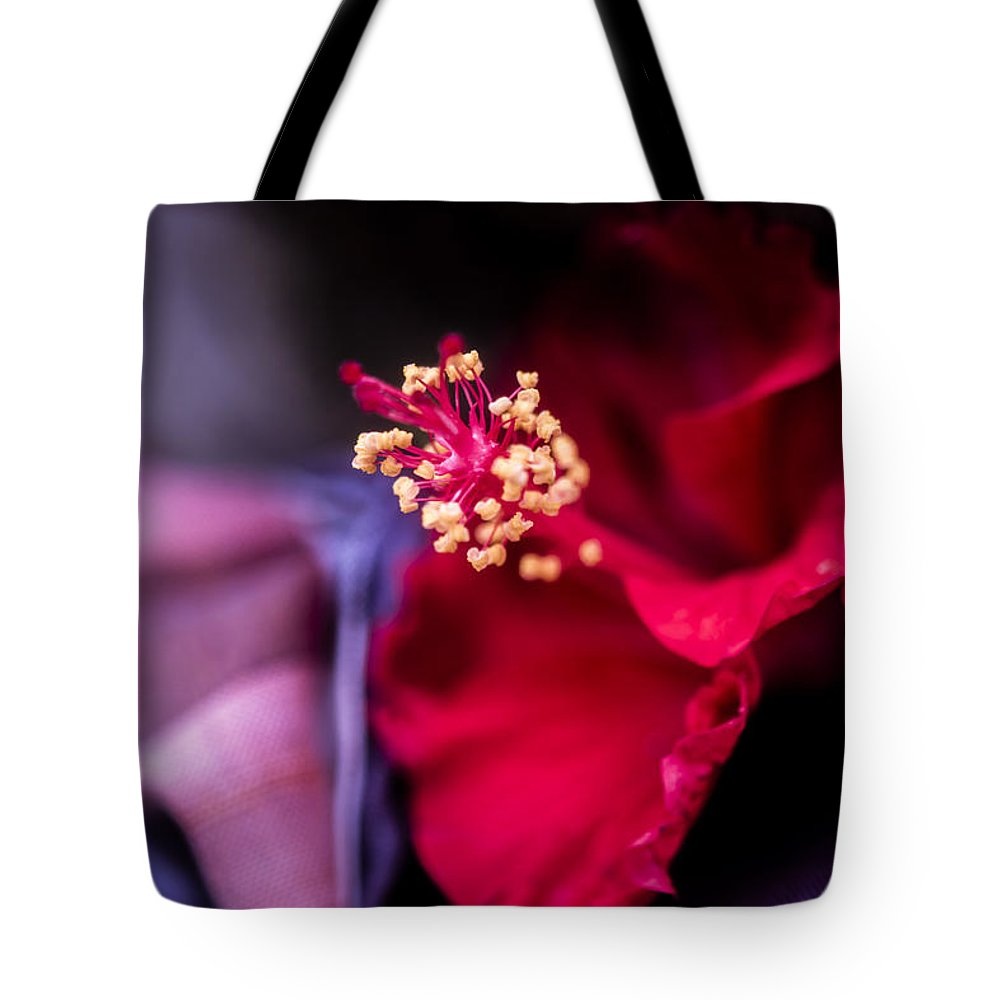 Architecture Tote Bag featuring the photograph Hibiscus Flower by Jijo George