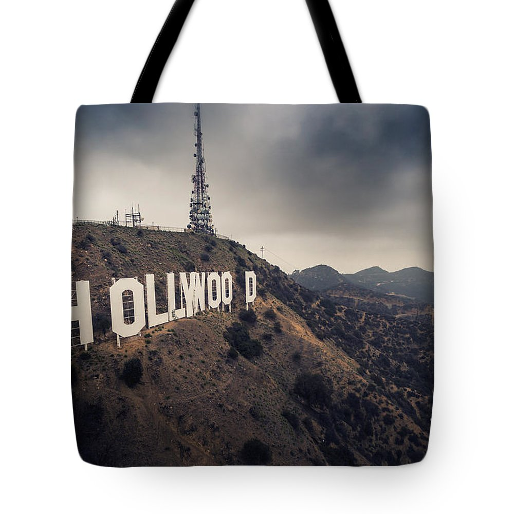 Hollywood Tote Bag featuring the photograph Hollywood Sign by Konstantin Sutyagin