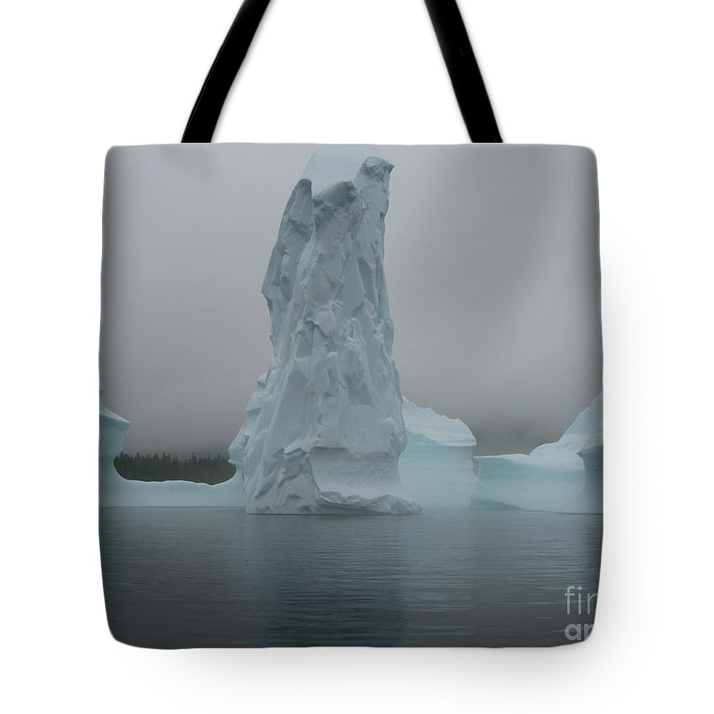 Icebergs Newfoundland Tote Bag featuring the photograph Icebergs by Seon-Jeong Kim