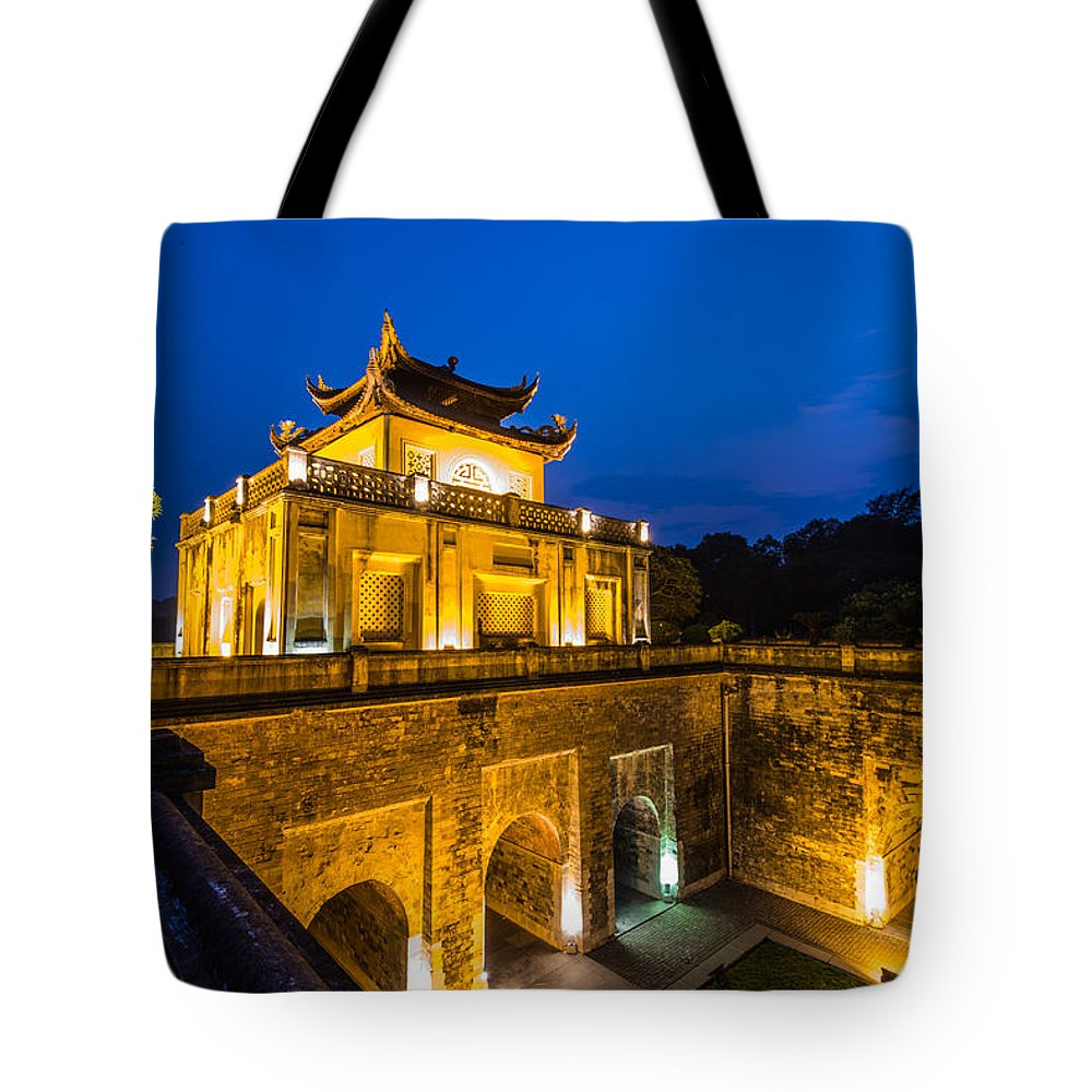 Tote Bag featuring the photograph Imperial Citadel Of Hanoi by Dong Bui