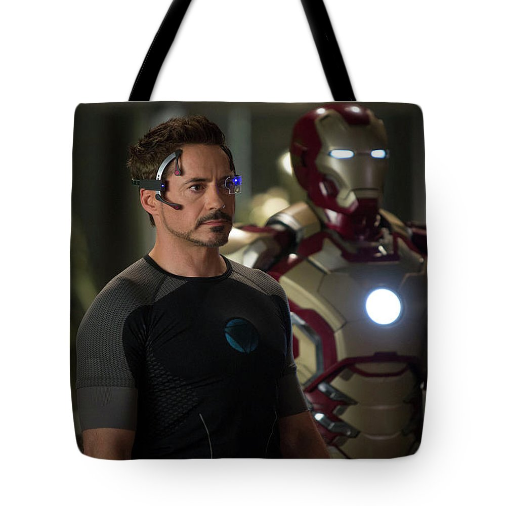 Iron Man 3 Tote Bag featuring the digital art Iron Man 3 by Super Lovely