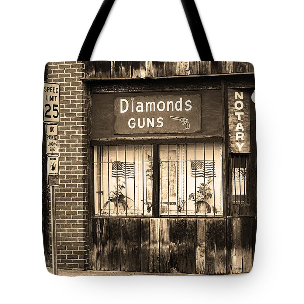 Air Tote Bag featuring the photograph Johnson City Tennessee - Gun Shop by Frank Romeo