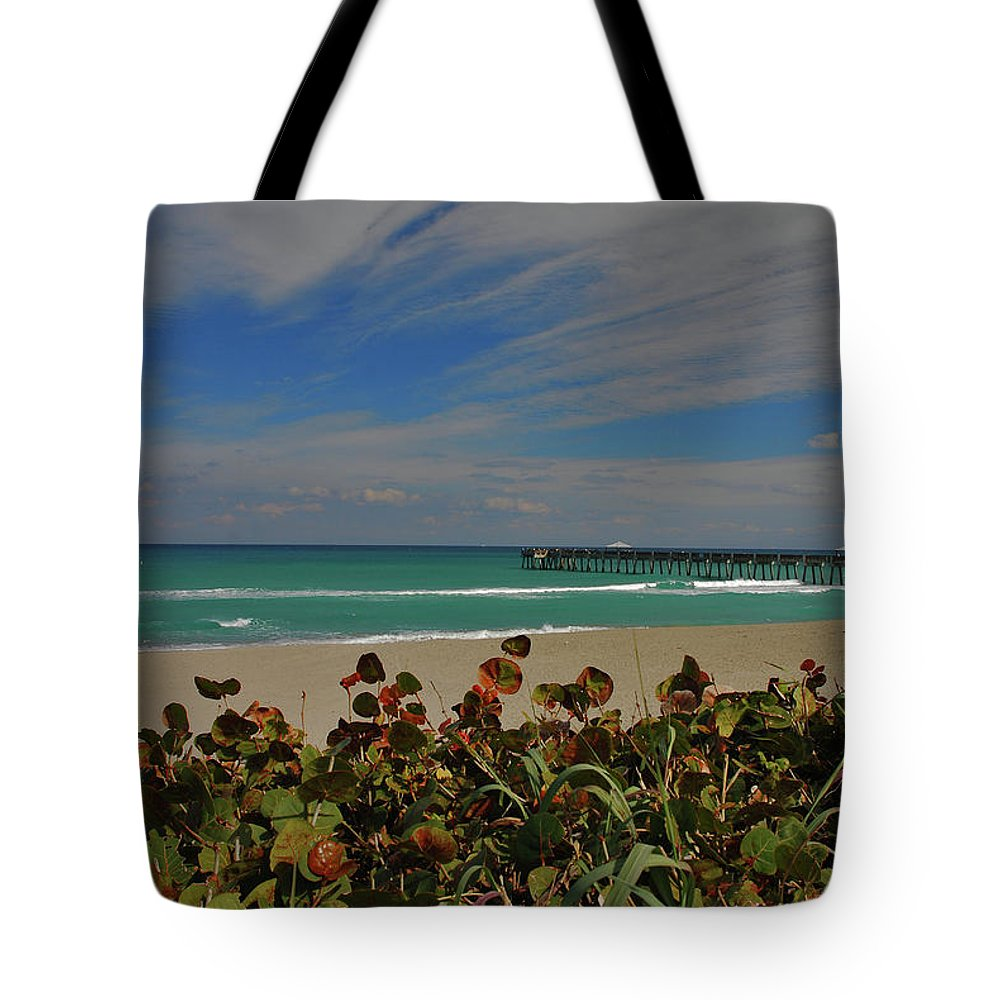 Juno Pier Tote Bag featuring the photograph 2- Juno Pier by Joseph Keane