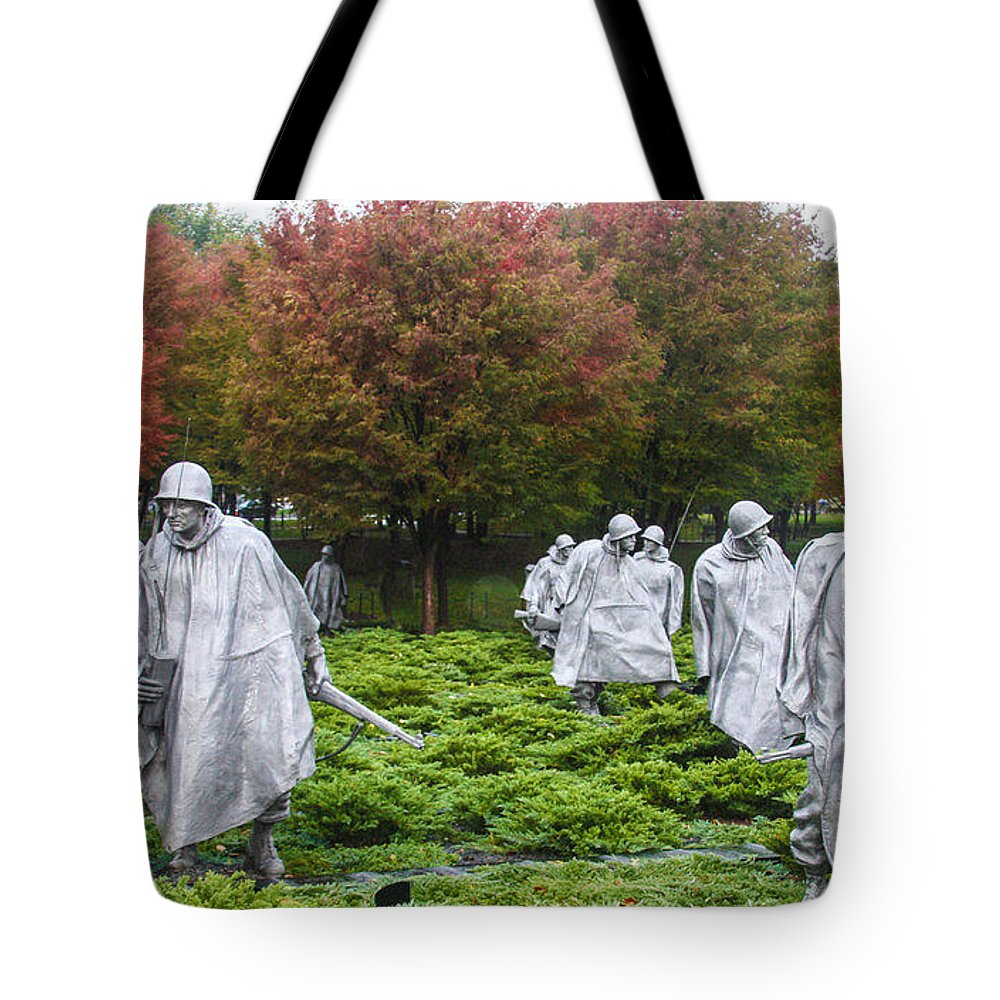 Sally's Pictures Tote Bag featuring the photograph Korean War by William Rogers
