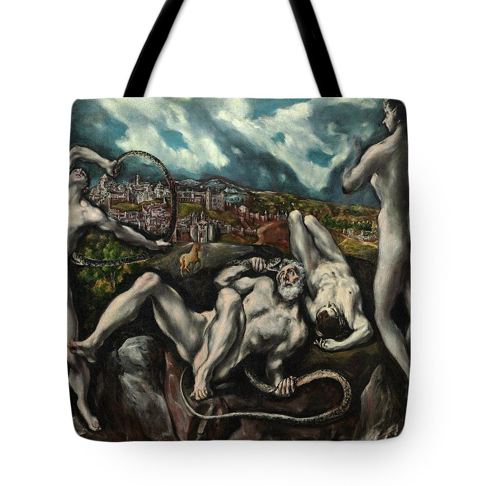 Cinquecento Tote Bag featuring the painting Laocoon by El Greco