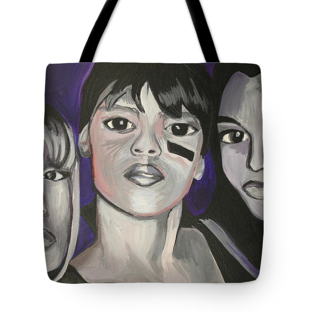 Lisa Lopez Tote Bag featuring the painting Left Eye by Kate Fortin