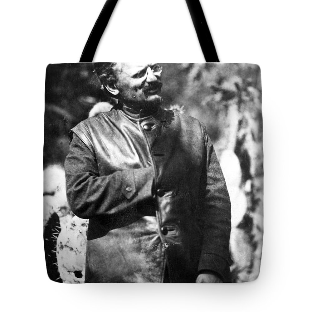 1930s Tote Bag featuring the photograph Leon Trotsky (1879-1940) by Granger