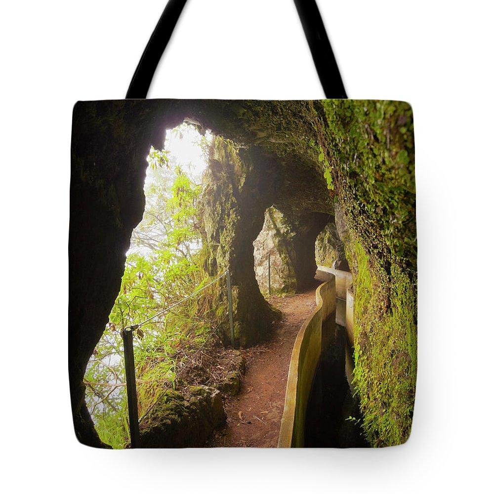Portugal Tote Bag featuring the photograph Levada Da Serra Do Faial, Madeira by Karol Kozlowski