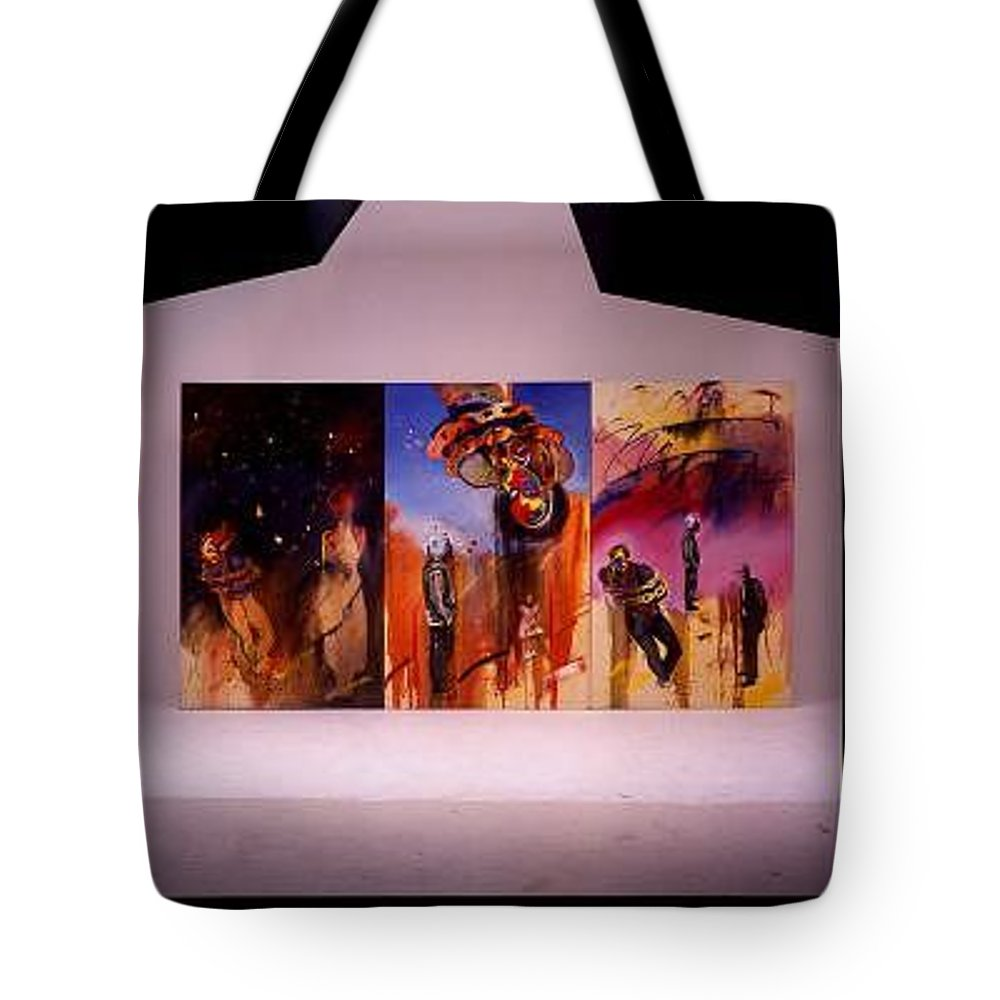 Canvas Tote Bag featuring the painting Love Hurts by Charles Stuart