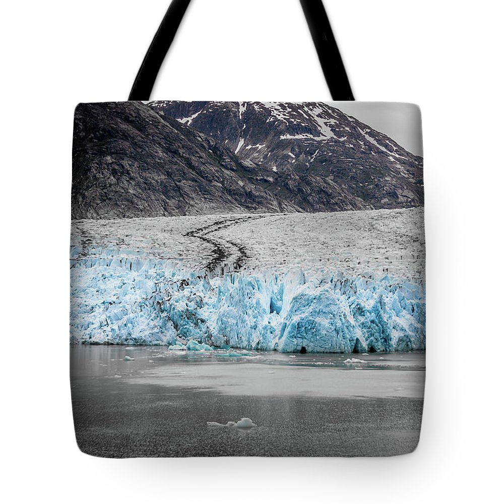 Glacier Tote Bag featuring the photograph Magnificent Sawyer Glacier At The Tip Of Tracy Arm Fjord by Alex Grichenko