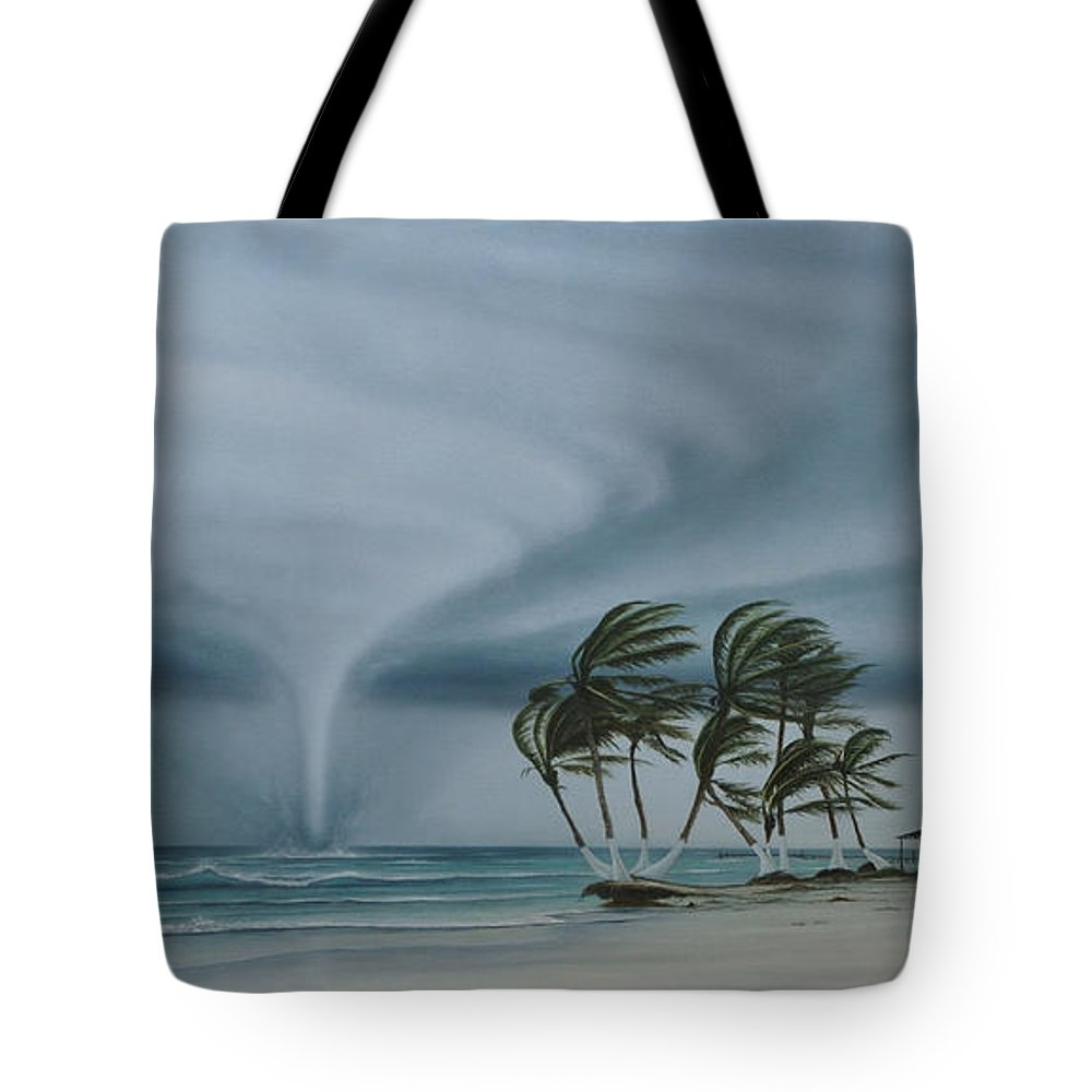 Tote Bag featuring the painting Mahahual by Angel Ortiz