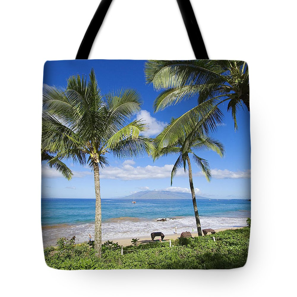 Beach Tote Bag featuring the photograph Makena, Maluaka Beach by Ron Dahlquist - Printscapes