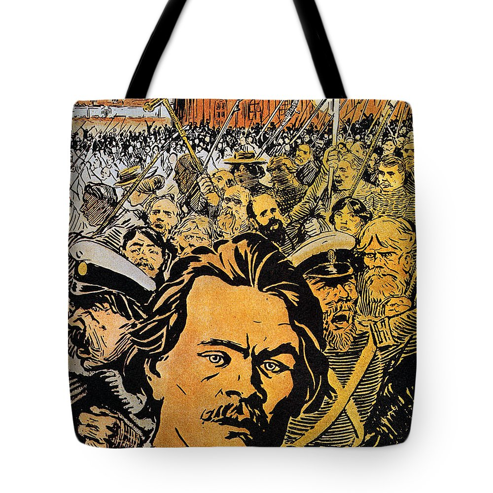 20th Century Tote Bag featuring the photograph Maxim Gorki (1868-1936) by Granger