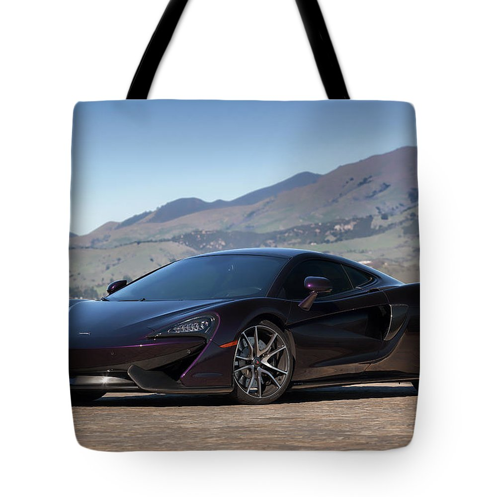 Mclaren Tote Bag featuring the photograph #mclaren #570gt #print by ItzKirb Photography