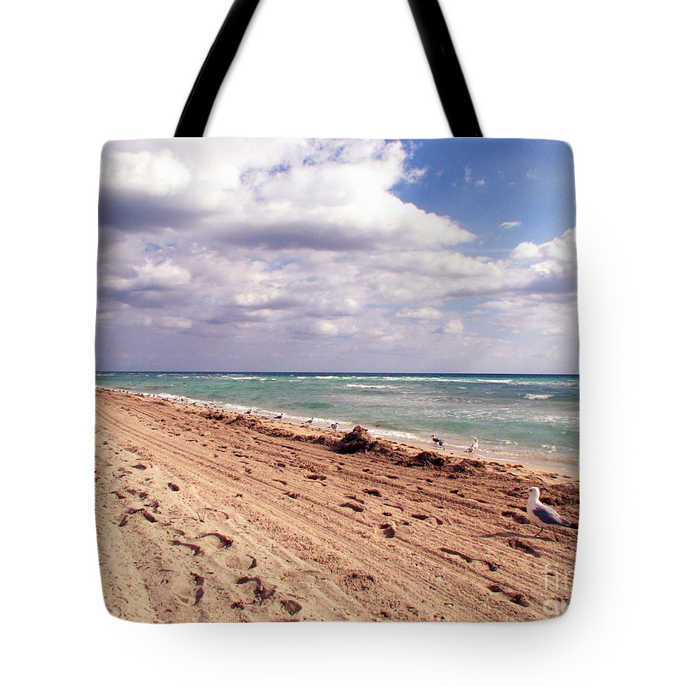 Beaches Tote Bag featuring the photograph Miami Beach by Amanda Barcon