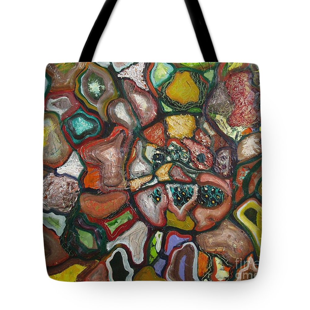 Abstract Paintings Paintings Abstract Art Paintings Tote Bag featuring the painting Mindscape by Seon-Jeong Kim