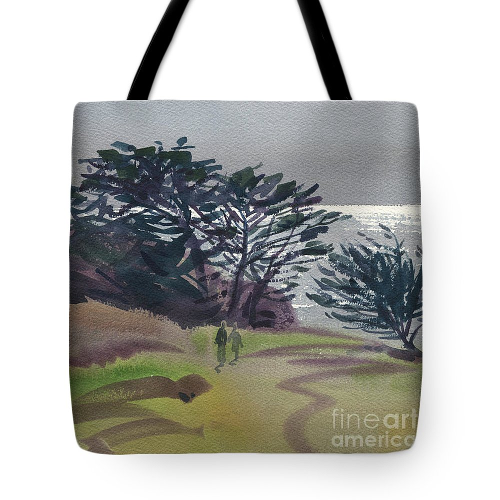 Plein Air Tote Bag featuring the painting Miramonte Point 1 by Donald Maier