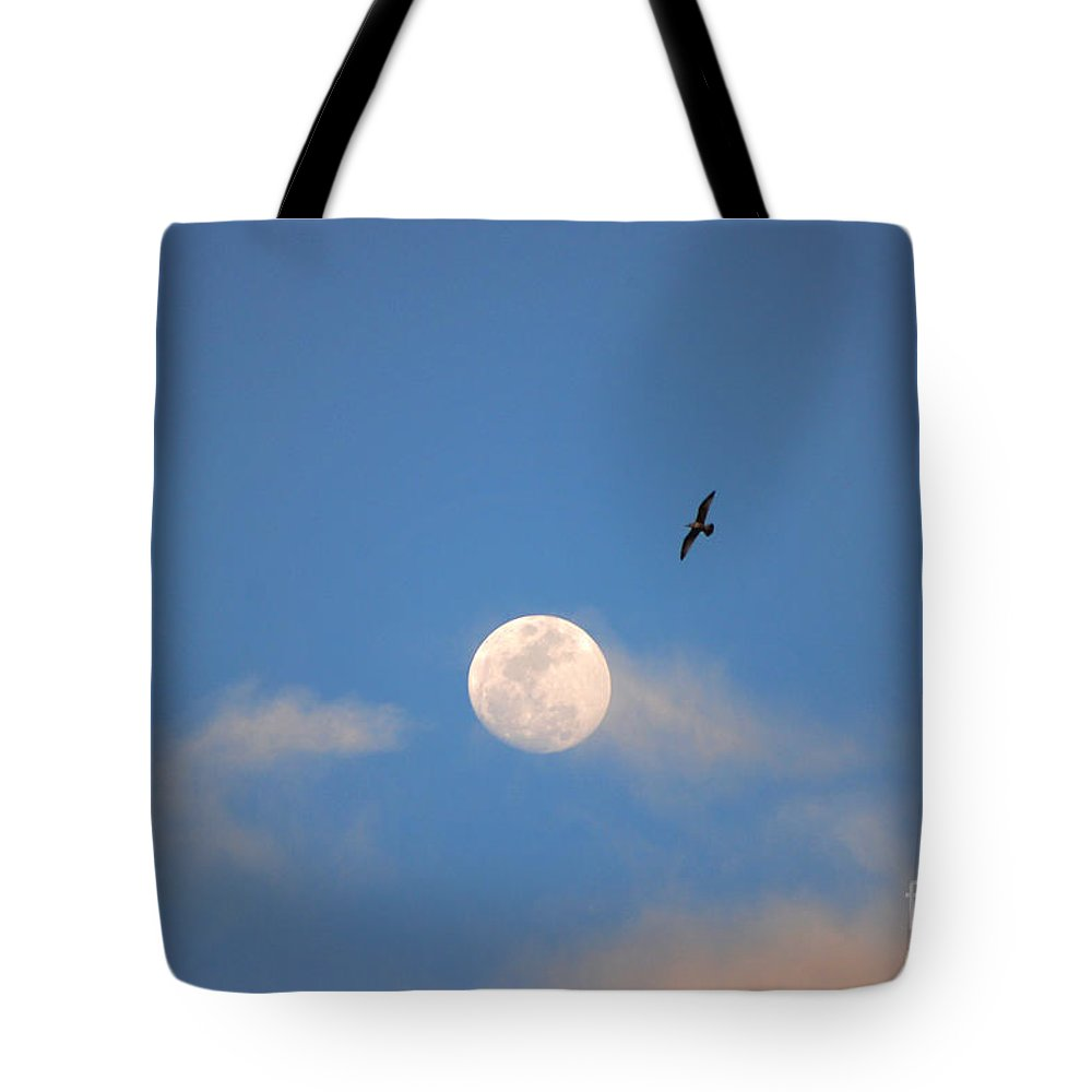 Moon Tote Bag featuring the photograph 2- Moon Bird by Joseph Keane
