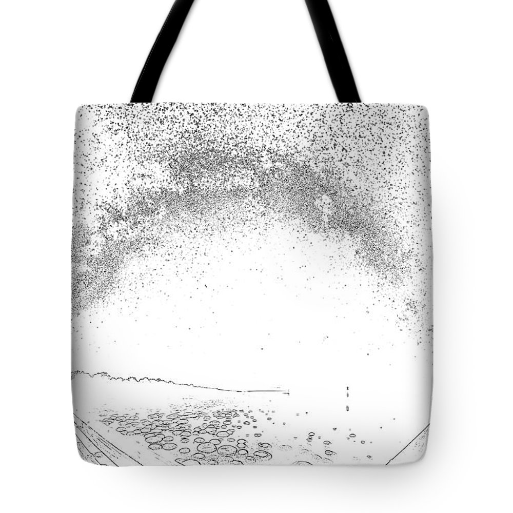 Night Tote Bag featuring the digital art Night by Lora Battle