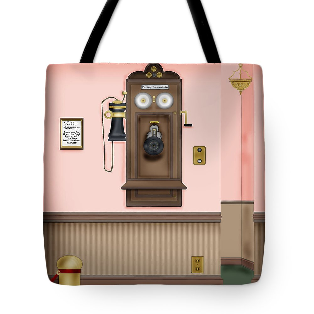 Hand-drawn Digital Painting Tote Bag featuring the painting Number Please by Anne Norskog