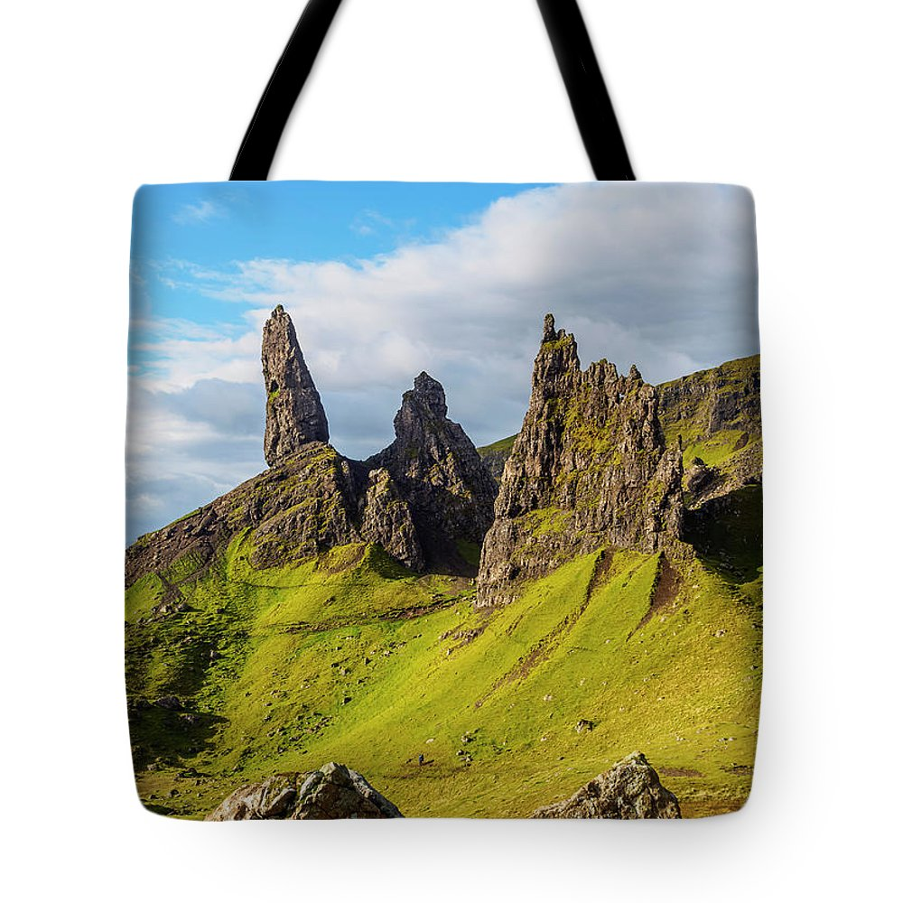 Old Man Of Storr Tote Bag featuring the photograph Old Man Of Storr, Isle Of Skye, Scotland by Karol Kozlowski