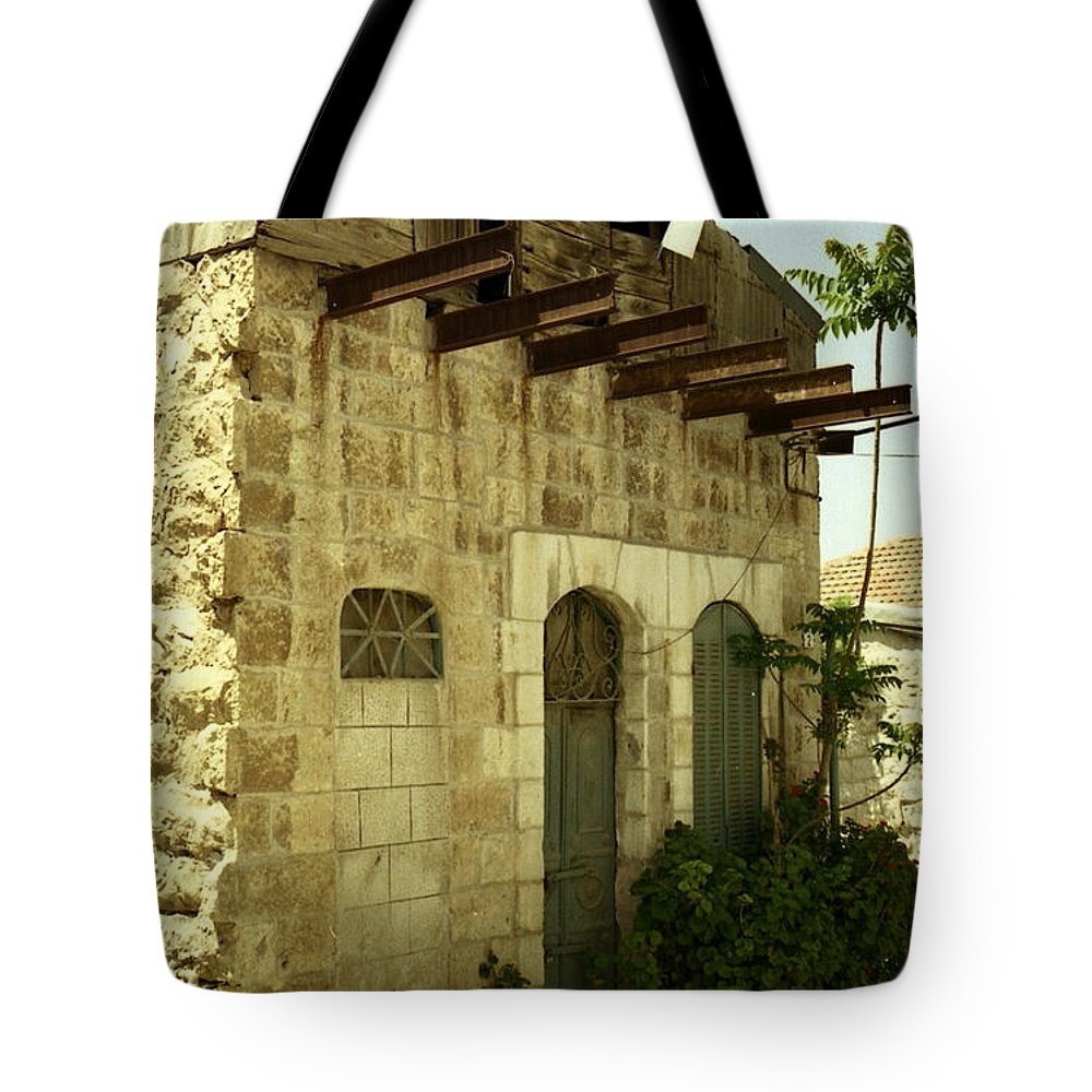 Jerusalem Suburb Photographer Photograph Photo Tote Bag featuring the photograph Old Suburb In Jerusalem. by Shlomo Zangilevitch